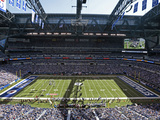 Indianapolis Colts - Sept 16, 2012: Lucas Oil Stadium Photographic Print by AJ Mast