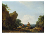 Shepherds with their Herd on a Pass, 1766 Giclee Print by Philip James De Loutherbourg
