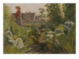 Vegetable Garden, Schrobenhausen, Germany Giclee Print by Franz Seraph von Lenbach