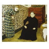 Mutter Und Schwester Des Kuenstlers Gicl&#233;e-Druck von Edouard Vuillard
