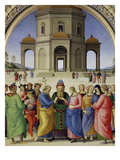 The Marriage of the Virgin, about 1500 Print by  Perugino