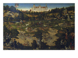 Hunting at the Court of Torgau in Honour of Karl V Lámina giclée por Lucas Cranach the Elder