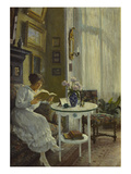 The Afternoon Read, 1917 Giclee Print by Paul Fischer