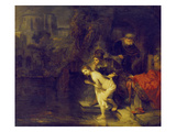 Suzanna and the Two Elders, 1647 Prints by  Rembrandt van Rijn