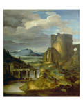 Landscape with Roman Tomb (The Morning), 1817/1820 Giclee Print by Théodore Géricault