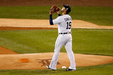 Detroit, MI - Oct 27: Detroit Tigers v San Francisco Giants - Anibal Sanchez Photographic Print by Leon Halip