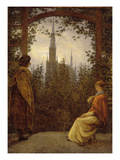 The Bower, 1818 Prints by Caspar David Friedrich
