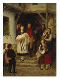 The Baptism Giclee Print by Johann Sperl