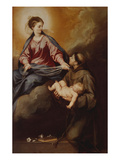 The Mother of God Appearing to St. Anthony. Between 1645 and 1652 Giclee Print by Alonso Cano
