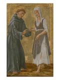 Der Hl.Franziskus Vermaehlt Sich Der Armut Giclée-Druck von Lorenzo Di Pietro Vecchietta