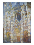 Rouen Cathedral, Morning Sunlight, Blue Harmony, 1894 Poster by Claude Monet