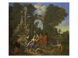 Gemuesemarkt Vor Einer Ruine Giclee Print by Johann Philipp Spalthov