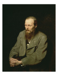 Portrait of Fyodor Dostoyevsky, 1872 Poster by Wassili Perow