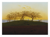 Hills and Ploughed Fields Near Dresden, about 1824 Giclee Print by Caspar David Friedrich