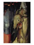 Dragonhead. Detail from the Left Panel of the Paumgartner Altar Posters by Albrecht Dürer