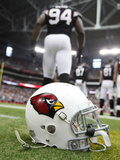 Arizona Cardinals - Sept 23, 2012: Cardinals Helmet Print by Paul Connors