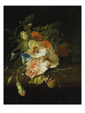 Still Life with Flowers and Butterfly Giclee Print by Rachel Ruysch