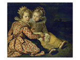 Magdalena and Jan-Baptist De Vos, the Painter's Children, about 1622 Giclee Print by Cornelis De Vos