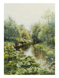 Sommertag an Einem Kleinen Fluss, 1909 Giclee Print by Peder Moensted