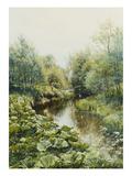 Sommertag an Einem Kleinen Fluss, 1909 Giclee Print by Peder Moensted