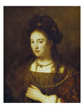 Saskia, the Wife of Rembrandt, 1643 Giclee Print by  Rembrandt van Rijn