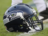 Seattle Seahawks - Aug 18, 2012: Seattle Seahawks Helmet Photo by Joe Mahoney