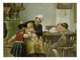 Grossmutter Mit Spielenden Enkeln Giclee Print by Herman Kern