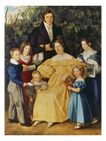 Portrait of the Family Werbrun, 1834 Giclee Print by Simon Meister