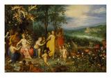 Fruehlings-Allegorie, 1616. (Zusammen Mit Hendrick Van Balen) Art by Jan Brueghel the Elder