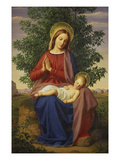 The Madonna and Child, 1885 Prints by Julius Schnorr von Carolsfeld