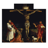 Isenheimer Altar. First Right Side, Centre Panel: Crucifixion Giclée-tryk af Matthias Grünewald