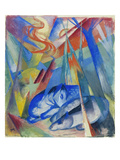 Sleeping Animals, 1913 Reproduction procédé giclée par Franz Marc