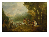 The Embarkation for Cythera, 1717 Prints by Jean Antoine Watteau