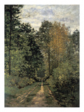 Forest Cart Road Prints by Claude Monet
