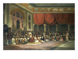 Sir Charles Warre Malet,British Resident at Court of Poona, in 1790 Concluding a Treaty in Durbar Giclee Print by Thomas Daniell
