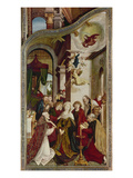 Wettenhausener Altar. Inner Right Panel: the Virgin&#39;s Death, 1523 Giclee Print by Martin Schaffner