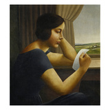 Martha, Reading a Letter, 1925 Giclee Print by Georg Schrimpf
