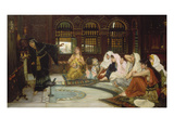 Consulting the Oracle Giclee Print by John William Waterhouse
