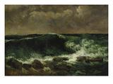 Gustave Courbet - The Wave, about 1870 Digitálně vytištěná reprodukce