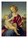 Mary and the Infant Christ (Madonna Colonna), about 1508 Reproduction procédé giclée par Raphael