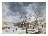 Winter Scene, 1660 Giclee Print by Jan Beerstraten
