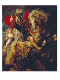 St. George and the Dragon, 1606/10 Prints by Peter Paul Rubens