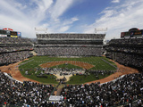 Oakland Raiders - Sept 23, 2012: Oakland Coliseum Prints by Marcio Jose Sanchez