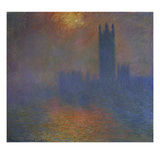 London, the Parlament. the Sun Breaks Through the Fog, 1904 Giclee Print by Claude Monet