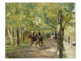 On Horseback in Berlin Tiergarten, 1915/16 Prints by Max Liebermann
