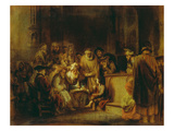 Jesus Christ, at Age Twelve, Among the Scribes in the Temple Lámina giclée por Gerbrand Van Den Eeckhout