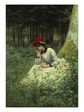 A Pensive Moment, 1888 Giclee Print by Niels Schiottz-Jensen
