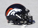 Denver Broncos - Sept 18, 2011: Denver Broncos Helmet Photographic Print by Jack Dempsey