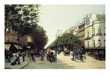 Boulevard Des Italiens, Paris, 1889 Giclee Print by Edmond Georges Grandjean