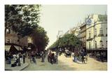 Boulevard Des Italiens, Paris, 1889 Giclee Print by Edmond Georges Grandjean